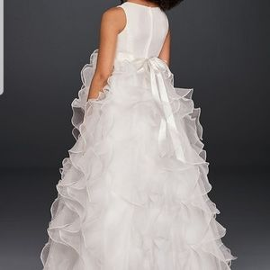David's Bridal Organza Girls Dress
